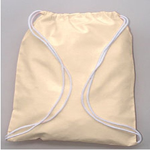 100% Cotton Economical Sport Drawstring Bag by SHOPINUSA (150) by SHOPINUSA