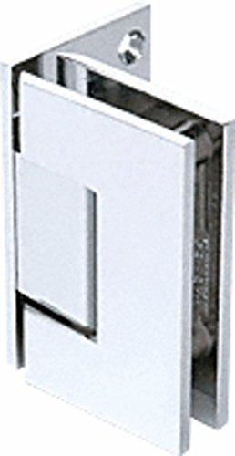 CRL Geneva 544 Series Chrome Wall Mount Offset Back Plate Hinge