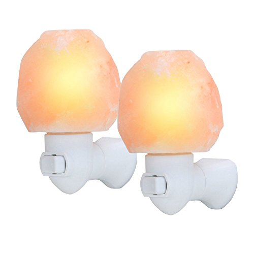 - Dragon-Hub Salt Lamp,2 Pack Natural Himalayan Rock Lamps Crystal Mini Hand Carved Glow Pink Sea Crystal RockCarved Night Light 7W Safety with UL Approved Wall Plug for Air Purifying Bedroom Decoration