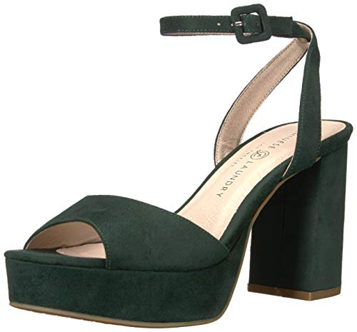 Chinese Laundry Women's Theresa Heeled Sandal, Forest Green Suede, 9 M US