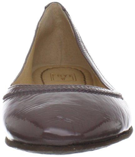 Frye Womens Carson Ballet Flat Smoke Patent
