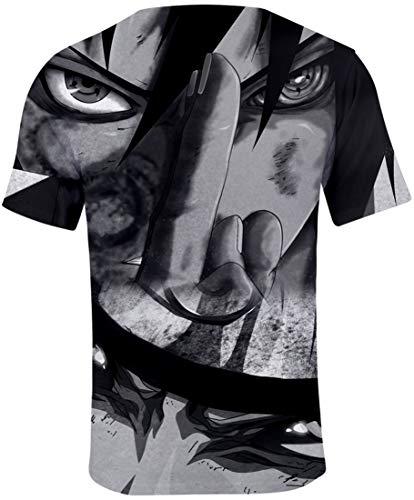 3d Doppia Anime Di shirt Men's 0443 Flychen Naruto Hokage T Uchiha Ninja Stampato Maglietta Uomo Faccia Top qIYIwxZgE