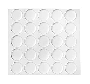 Klove Us100-piece Epoxy Stickers for Bottle Cap Pendants, 1-inch, Clear