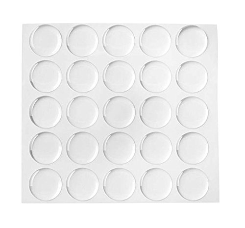 (Qishi 200-piece Epoxy Stickers for Bottle Cap Pendants, 1-inch, Clear)