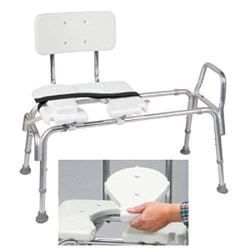 - Brigss HealthCare DMI Heavy-Duty Sliding Transfer Bench with Cut-Out Seat