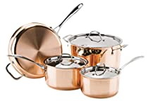 Josef Straus - Le Cuivre Le Cuivre Copper 3-Ply 7-Piece Cookware Set - Mirror Finish