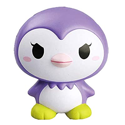 ibloom Little Penguins Slow Rising Squishy Toy (Spunky, Purple, Grape Scented, 5.5 Inch) [Birthday Gifts, Party Favors, Stress Relief Toys for Kids, Adults]: Toys & Games