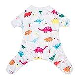 Image of CuteBone Dinosaur Dog Pajamas Adorable Pet Clothes Jumpsuit Pjs Apparel Soft Fleece Cat Coat, Medium P01M