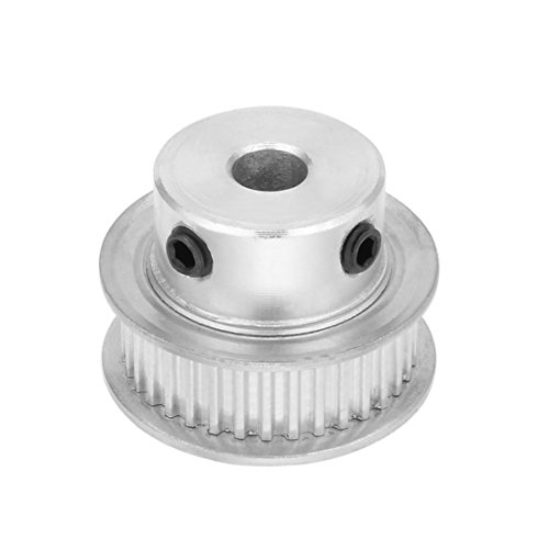 uxcell Aluminum MXL 35 Teeth 6mm Bore Timing Belt Pulley Synchronous Wheel for 6mm Belt 3D Printer CNC