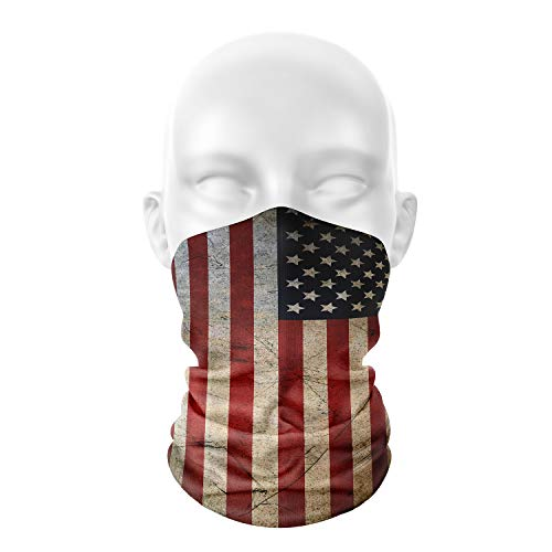 n a Seamless Face Cover Bandana Neck Gaiter Scarf Face Protection Magic Scarf Headwear for Outdoors, Festivals, Sports (Flag)