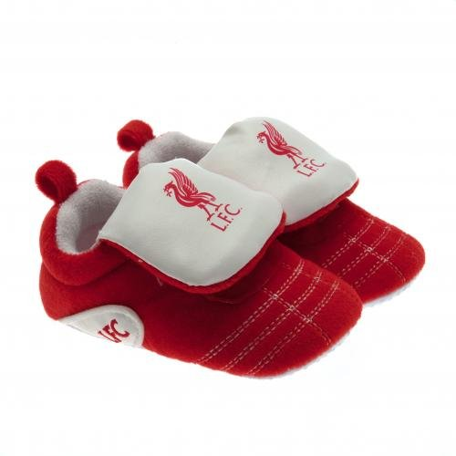 Liverpool FC Crib Shoes for Size 0/3 Months - Features Team Colors and Liverbird - Velcro Close for Easy On/Off - For The Little LFC - Shop Liverpool 3 Street