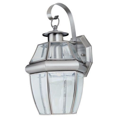 Sea Gull Lighting 8067-965 Lancaster Outdoor Fixture, One-Light, Antique Brushed Nickel Finish