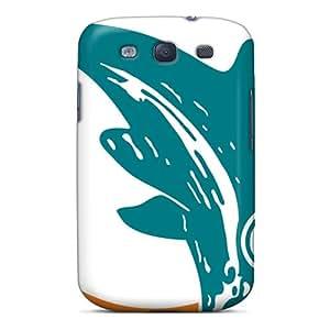 Samsung Galaxy S3 ZIb14CBes Provide Private Custom Lifelike Miami Dolphins Skin Anti-Scratch Cell-phone Hard Cover -JamieBratt