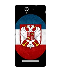 ColorKing Football Serbia 03 Multi Color shell case cover for Sony Xperia C3