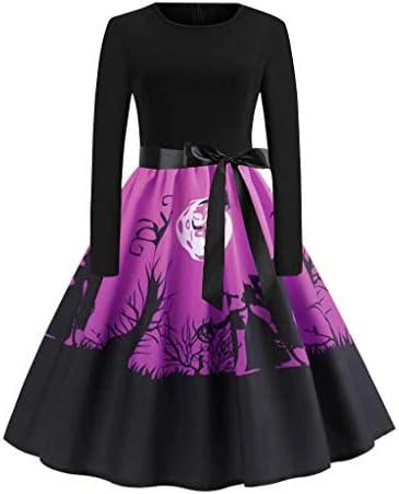 ハロウィン ワンピース コスプレ 仮装 大人 レディース 長袖 かぼちゃ コウモリ デビル プリーツ スイングドレス 魔女 悪魔