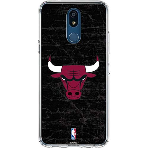 - Skinit Chicago Bulls Black Distressed LG K30 Clear Case - Officially Licensed NBA Phone Case Clear - Transparent LG K30 Cover