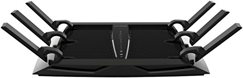Netgear Nighthawk R8000-100PES X6 AC3200 Wireless 802.11ac Tri-Band Gigabit Router, (1x USB 3.0, 1x USB 2.0, 3200Mbit/s, Beamforming+), schwarz