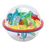 3D Spherical Maze Ball Challenging Interactive Maze Game with 100 Obstacles Kids Children Balance Game Gift Intelligence Training Tool