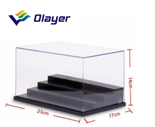 transparente en acrylique//plastique Olayer Bo/îte de pr/ésentation avec 4/marches bo/îte de pr/ésentation /à 4 niveaux prot/ège de la poussi/ère.