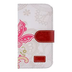 TOPAA Dancing Butterflies Drawing PU Leather Curtain Print Skin Hard Back Cover Pouches for Samsung Galaxy S4 I9500