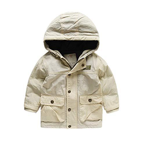 J-TUMIA Chaqueta de Abrigo para niños Chaqueta de Parka para niños, con Capucha, de Invierno, para niños, para niños Abrigo de Abrigo (Color : Beige, ...