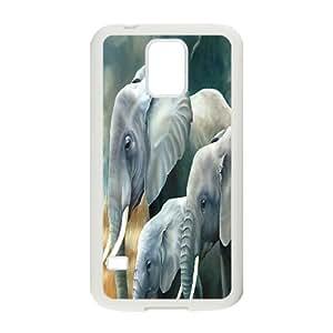 C-Y-F-CASE DIY Design Cute Wild Elephant Animal Pattern Phone Case For SamSung Galaxy S5 i9600