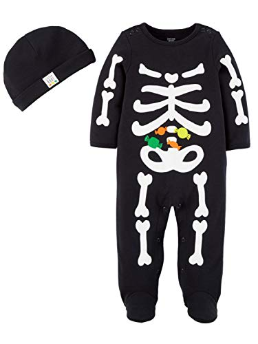 Carter's Just One You Baby Boys' Halloween Skeleton Sleep N' Play- Black (6 -