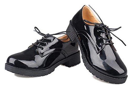 Vrouwen Meisjes Lolita Lage Top Japanse Studenten Meid Uniforme Kleding Schoenen Oxford Schoenen Zwart