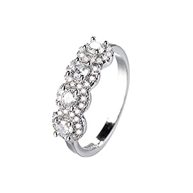 UINGKID Schmuck Damen Ring Runder Diamant-weißer Rhinestone-Verlobungs-Sachen