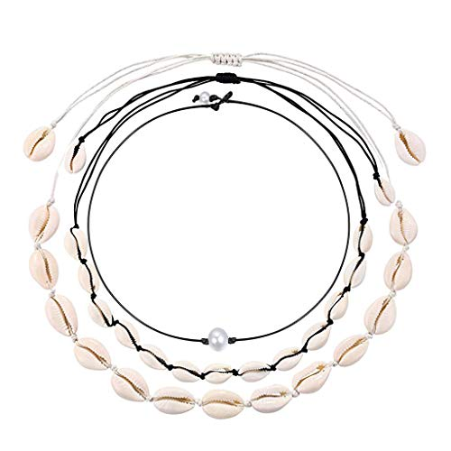 - KOORASY Natural Cowrie Shell Choker for Women Handmade Seashell Pearls Adjustable Summer Boho Hawaii Wakiki Beach Necklaces Jewelry Girls