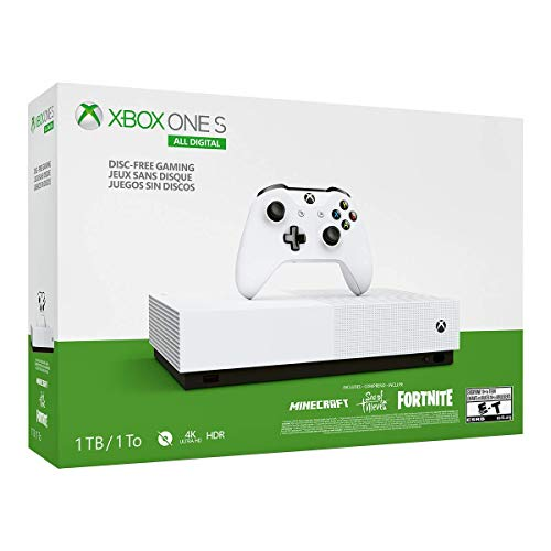 Xbox One S 1TB All-Digital Edition Console (Disc-Free Gaming) (Renewed)