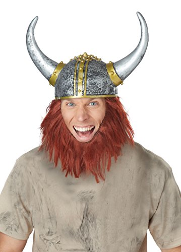 Viking Beard Costume (California Costumes Men's Viking Getup, Silver/Auburn, One)