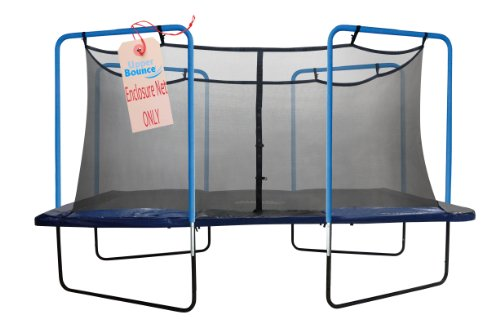 Trampoline-Replacement-Safety-Net-Fits-For-13-X-13-Square-Frames-Using-4-Arches-with-ties-on-top-NET-ONLY