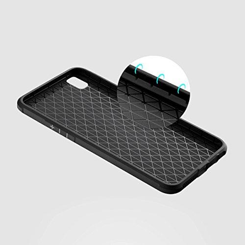 OPPO R9 Plus Kasten, CaseFirst Ultra Thin Anti-Klopfen Gummi Case Shockproof Soft Silikon Schutzmaßnahmen zurück Fall Deckung für OPPO R9 Plus (Saphirblau) Schwarz