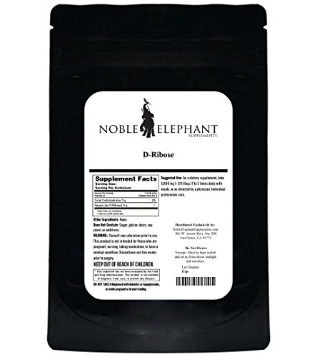 D-Ribose Powder (Pure, Unflavored (5 Kilograms)) by Noble Elephant Supplements