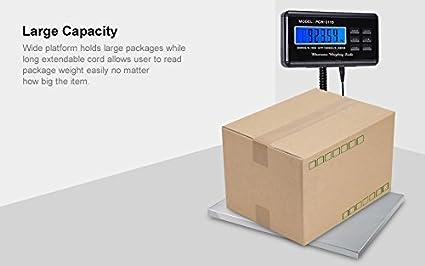 Balanza Digital Báscula de Plataforma 150kg / 300kg, LED Pantalla de Visualización, para Paquetes postales, Balanzas Digitales Comerciales: Amazon.es: ...