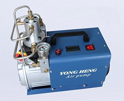 Cooling Compressor (110V Auto-Stop Air Compressor 30MPA 4500PSI 300Bar Electric High Pressure PCP Rifle Refilling Air Pump Water Cooling Airgun)