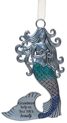 - Gnz 3.5 Inch Zinc Mermazing Mermaid Ornament- Grandmas