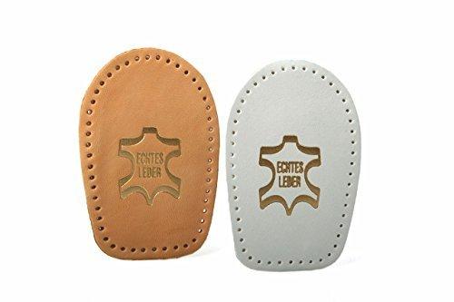 Fersenkissen Fersenpolster Einlage für die Ferse aus echtem Leder Gr 35-46 z2040(natur,38 - 40)