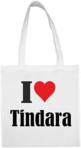 I Love Tindara Winkeltas schooltas sporttas 38x 42cm in zwart of wit het ideale cadeau voor KerstmisVerjaardagPasen of gewoon voor jezelf het ideale geschenk voor KerstmisVerjaardagEa