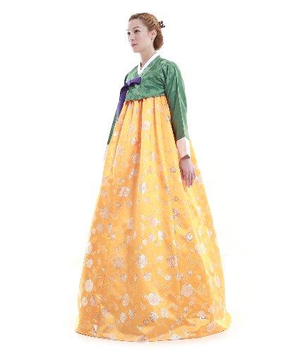 Hanbok Gruen Gelb Korea Kleid Fashion Lang Elegant ZqpOdw
