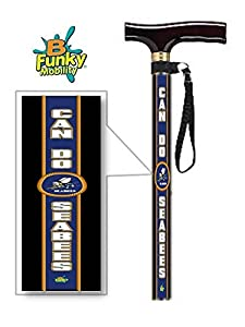 Adjustable T Handle Walking Cane US Navy Sea Bees from BFunkyMobility
