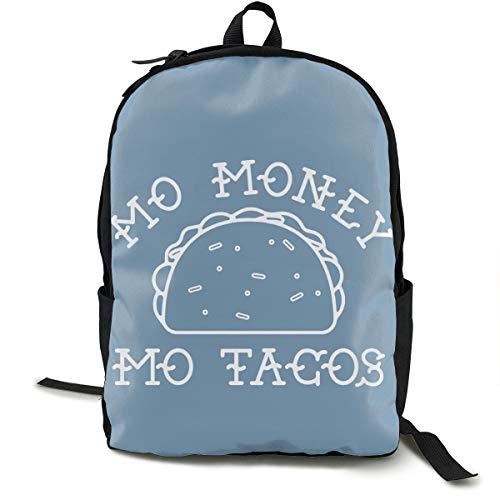 Mo Money Mo Tacos Printed School Backpack Lightweight Travel Rucksack Bag Laptop Backpack