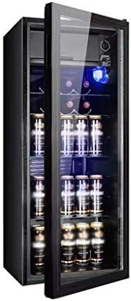 WANGLX 飲料冷蔵庫、クーラー - 小飲料センター、レッドワインキャビネット冷蔵庫ホームアイスバー - 38DB、161L、ソーダ、ビールやワインのためのガラスドアと冷蔵庫を飲みます