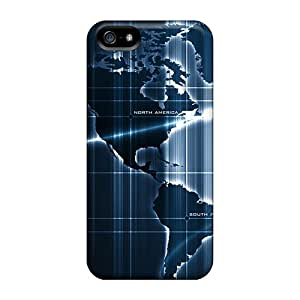 For Iphone 5/5s Protector Cases Sensor Deep Map Phone Covers