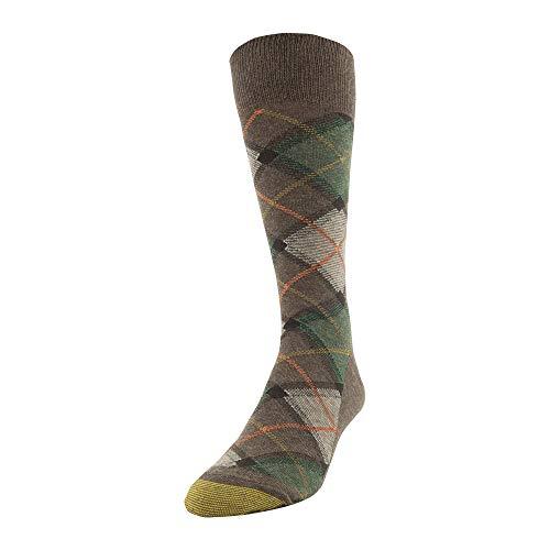 Gold Toe Men's Patterned Fashion Dress Crew Socks, 1 Pair, Tartan Plaid 1, Shoe Size: 6-12.5