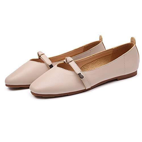 FLYRCX Los Zapatos Planos Suaves y cómodos de la Manera Casual Trabajan los Zapatos de Las señoras Solos Zapatos Zapatos de Las Mujeres Embarazadas B