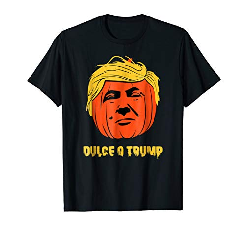 Camisetas Playeras Halloween Calabaza Dulce o Trump -