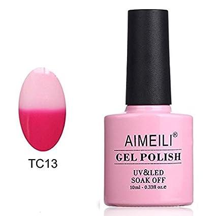 AIMEILI Esmalte Semipermanente De Uñas Temperatura Cambio De Color Camaleón Soak Off UV LED Uñas De