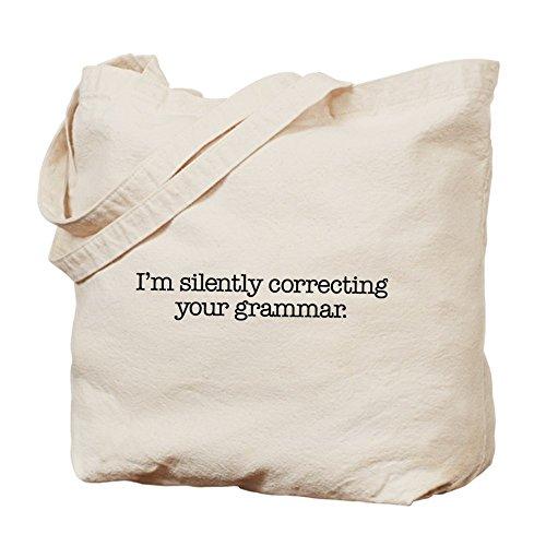 CafePress–corregir gramática Tote Bag–Natural gamuza de bolsa de lona bolsa, bolsa de la compra